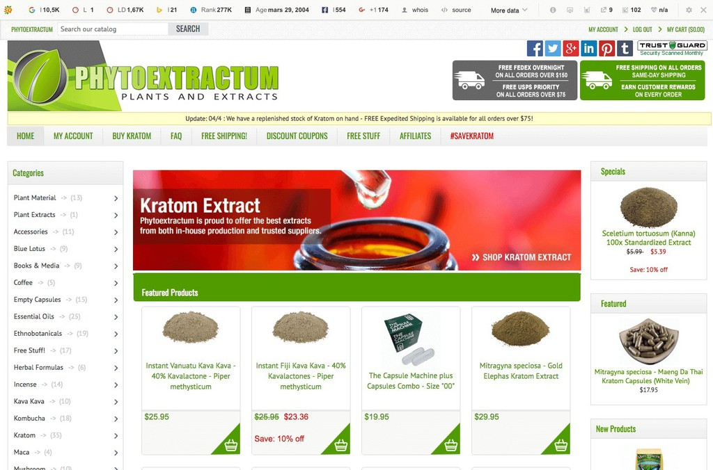 Who sells the best kratom 5 quality vendors 2018 for Best site to buy